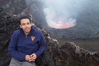 Bassem and volcano